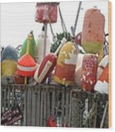 Provencetown Lobster Buoys Wood Print
