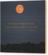 Provided Light Wood Print