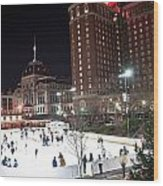 Providence On A Cold December Evening Wood Print