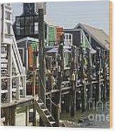 Provincetown Docks Wood Print