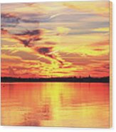 Provincetown Harbor Sunset Wood Print