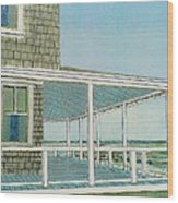 Provincetown Porch Wood Print