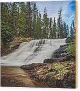 Provo River Falls 2 Wood Print