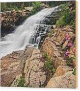 Provo River Falls 3 Wood Print