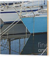 Prows Of Boats Wood Print