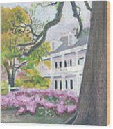 Prudhomme-rouquier House In Natchitoches Wood Print by Ellen Howell