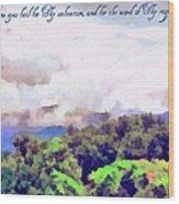 Psalm 119 123 Wood Print