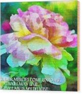 Psalm 119 77 Wood Print