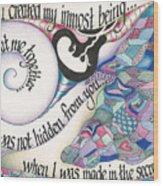 Psalm 139 Wood Print