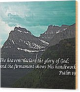 Psalm 19 1 On The Rocky Mountains Wood Print