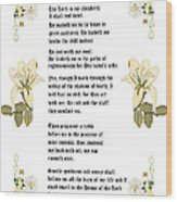 Psalm 23 From The Holy Bible Wood Print by Anne Norskog