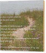Psalm 23 Path  Wood Print