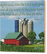 Psalm 50 Wood Print