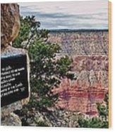 Psalm 68 - Grand Canyon Wood Print
