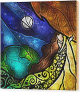 Psalm 91-4 Wood Print by Mandie Manzano