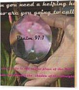 Psalm 91 Wood Print