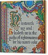Psalms 23-3 Wood Print