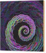 Psychedelic Conch Wood Print