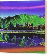 Psychedelic Lake Matheson Ner Zealand 3 Wood Print