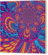 Psychedelic Mind Trip Wood Print
