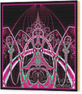 Psychedelic Rollercoaster Tunnel Fractal 65 Wood Print