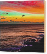 Psychedelic Sky Wood Print