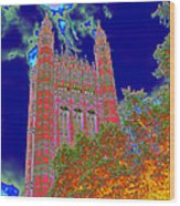 Psychedelic Westminster Wood Print