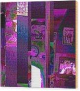 Psycho Den Wood Print