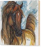 Psychodelic Chestnut Horse Original Painting 2 Wood Print