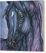 Psychodelic Deep Blue Wood Print