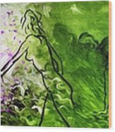 Psychological State In Green Wood Print