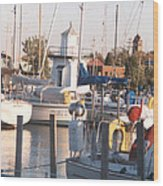 Pt. Clinton Yacht Club Wood Print