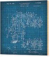 Pt Farnsworth Television Patent Blueprint 1930 Wood Print