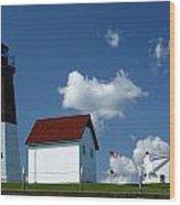 Pt. Judith Lighthouse Wood Print