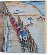 Pt Pleasant Nj Sand Train Wood Print