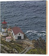 Pt Reyes Lighthouse Wood Print