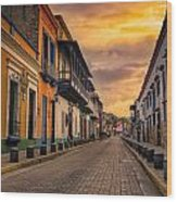 Pto Cabello Colonial District Wood Print