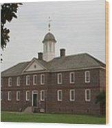 Public Hospital Colonial Williamsburg Wood Print