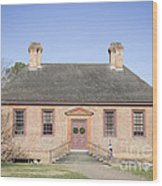 Public Records Office Williamsburg Virginia Wood Print