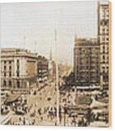 Public Square Cleveland Ohio 1912 Wood Print