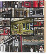 Pubs Of Dublin Wood Print by David Smith