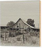 Puckerbrush Rd Barn  Wood Print
