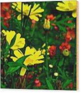 Puck's Garden Wood Print