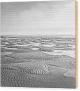 Puddles Of Ocean Left Behind Wood Print