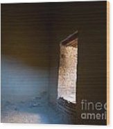 Pueblo Bonito Interior Window Detail Wood Print