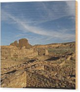 Pueblo Bonito Walls And Rooms Wood Print by Feva  Fotos
