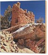 Pueblo Cliff Wood Print