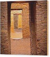 Pueblo Doorways Wood Print