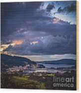 Puentedeume From Cabria Noguerosa Galicia Spain Wood Print