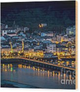Puentedeume View From Cabanas Galicia Spain Wood Print